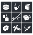 Smoking Icon set vector image