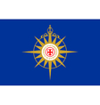 Flag of the Anglican Communion vector image