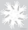 White hands Abstract background for design vector image