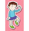 Boy waving vector image vector image