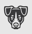 Terrier Head Logo Mascot Emblem vector image