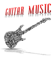 Play guitar vector image vector image