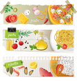 italian cuisine dishes vector image