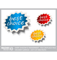 award stickers vector image