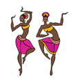 dancing woman in ethnic style vector image