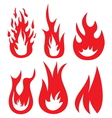 Fire icons1 vector image