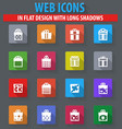 gift box icon set vector image