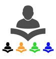 reader boy icon vector image