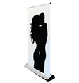 couple kissing silhouette on roll up vector image