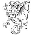 heraldic dragon No10 vector image