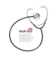 black Stethoscope with place for text vector image