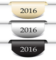Set of labels stickers gold vector image