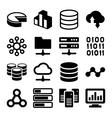 Big Data Analytics Icons Set on White Background vector image