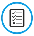 Checklist Rounded Icon vector image