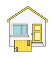 Delivery Box to Home House Design Flat vector image