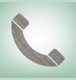phone sign   brown flax icon vector image