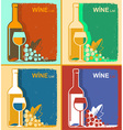 vintage wine cards backgrounds for text vector image
