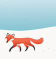 Walking Fox vector image