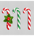 xmas lollipop set vector image