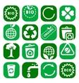 color environmental icon set vector image vector image