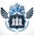 heraldic coat of arms decorative emblem vector image