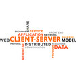 Word cloud - client server model vector image