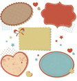 Retro romantic love stickers and tags vector image