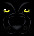 panther eyes vector image