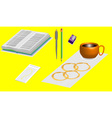 Office supplies 3D vector image