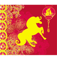 Year of Horse - Happy Chinese New Year Card Design vector image vector image