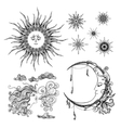 Stars Moon And Wind vector image vector image