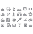 Entertainment gray icons set vector image