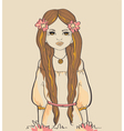 Girl with horns Astrological sign of Virgo vector image