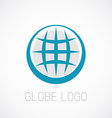 Globe logo template Earth planet sign vector image