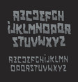 halloween abstract font zombie style alphabet vector image