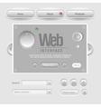 Light web ui elements design gray vector image