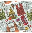 London winter landmarks seamless patternColored vector image