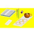 Office supplies 3D vector image