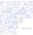 Purple textile flowers texture frame corner vector image