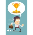 running young man businessman cartoon wow excited vector image