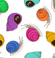 Seamless pattern of snails vector image