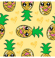 yellow fruit doodle style collection vector image