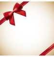 red ribbon background vector image
