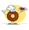 Donut cartoon vector image vector image