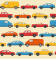 seamless pattern with colorful cars vector image vector image