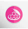 Color molecule icons set with shadow isolated vector image