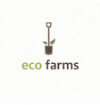 spade eco farms vector image