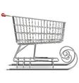 Supermarket Sled vector image vector image