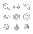 Line confectionery icons vector image