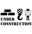 black under construction symbol vector image